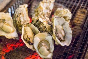 薄毛食べ物牡蠣